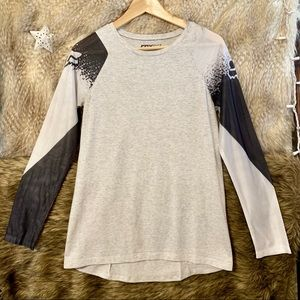 Fox Racing Grey Long Sleeve Graphic T-Shirt